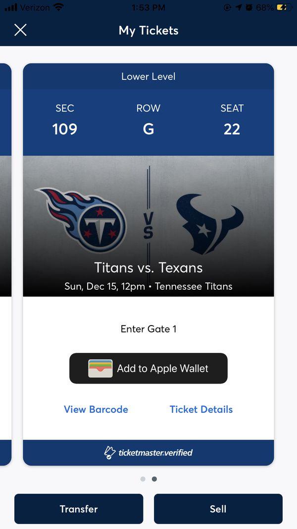 Titans-Texans Tix