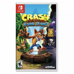 Crash Bandicoot N-Sane Trilogy Switch Video Game (like Mario) for Kids & Adults, 3 Games in 1 for Sale in Canton, MI