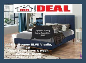 QUEEN & CAL-KING PLATFORM BED SAME PRICE for Sale in Visalia, CA