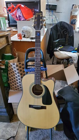 Fender starcaster acoustic/electric guitar with cover for Sale in Norwalk, CA