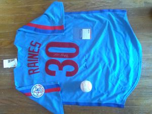 Autographed Tim Rock Raines Baseball Jersey and Baseball Psa authentication for Sale in Skokie, IL