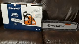 "( PRICE IS FIRM) HUSQVARNA CHAIN SAW 450E 20 ""BAR WITH SMART START for Sale in Salisbury, NC"