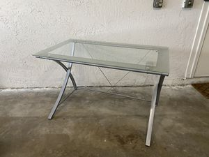 Metal/Glass Desk in Great Condition for Sale in Delray Beach, FL