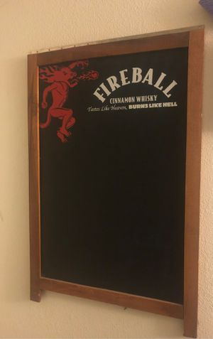 Fireball chalk board for Sale in Sanger, CA