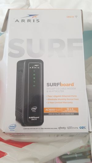 NEW SURFBOARD 3.0 CABLE MODEM &WIFI ROUTER 1600 mbps wifi for Sale in Tracy, CA