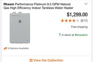Tankless water heater for Sale in Croydon, PA