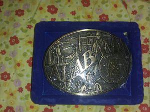 Vintage award designs medal belt buckles for Sale in Drakesville, IA