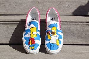 """Vans Slip-On """"Simpsons"""" SIZE 9 Customs for Sale in Chicago, IL"""