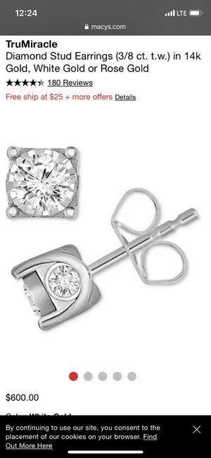 Diamond stud earrings for Sale in Oak Forest, IL