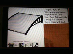 Window or Door Awning New in box. Comes with Brackets and screws for Sale in Canton, MI