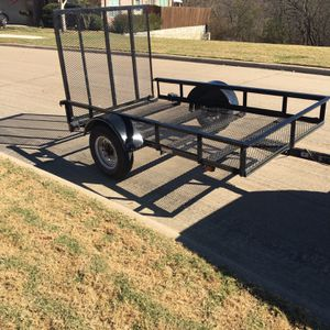 5 X 8 Utility Trailer With A Drop Ramp 700 Firm for Sale in Grand Prairie, TX