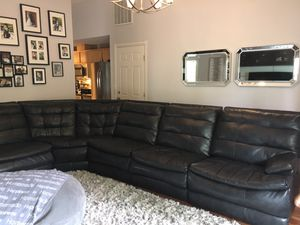 Black leather sectional for Sale in Gresham, OR