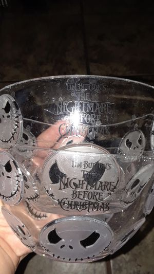 Two bowls of the nightmare before Christmas for Sale in Los Angeles, CA