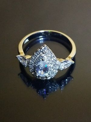 Women's vintage wedding engagement promises ring tear drop size 6.0 for Sale in Beloit, WI