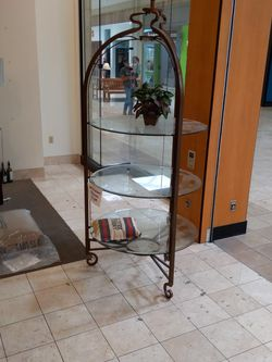 Shelf Unit Display Unit Metal Glass for Sale in Phoenix,  AZ