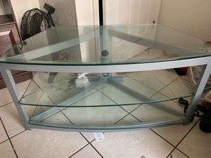 Tv entertainment center glass for Sale in Lakeland, FL