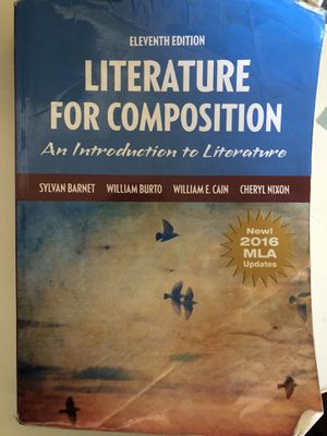 Literature for Composition 11th Edition (good condition-paperback) for Sale in Tucson, AZ