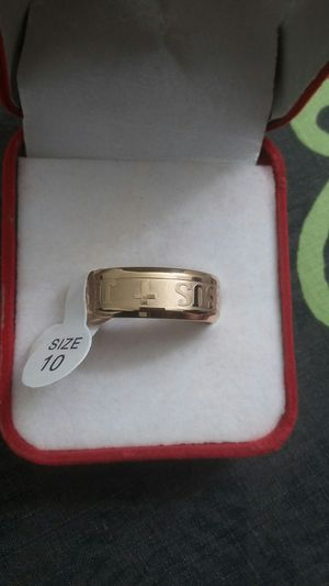 1 Pcs popular golden gold plated men ring size 10 for Sale in March Air Reserve Base, CA