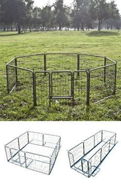 "New 24"" Tall x 32"" Wide Panel Heavy Duty 8 Panels Dog Playpen Pet Safety Fence gate valla Para perros (tarp not included) for Sale in South El Monte,  CA"