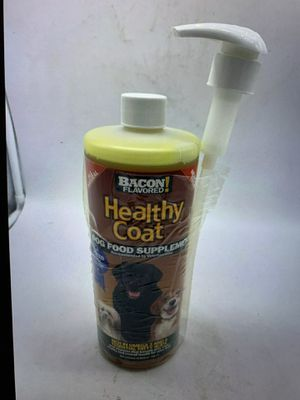 Healthy coat dog food supplement for shedding itching hot spots 32oz for Sale in Perris, CA