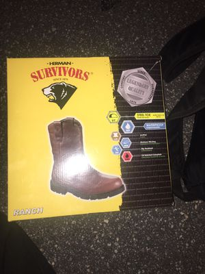 Steel toed work boots for Sale in Winter Haven, FL