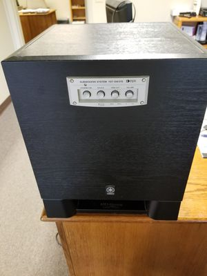 Yamaha powered subwoofer home theater stereo bass for Sale in Wenatchee, WA