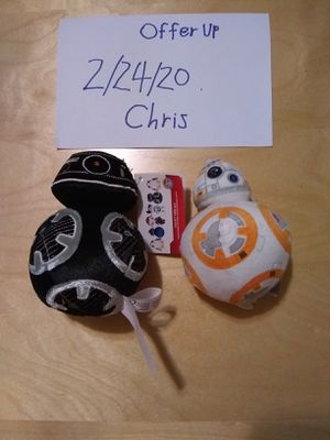 Star Wars The last Jedi plushies for Sale in Sacramento, CA