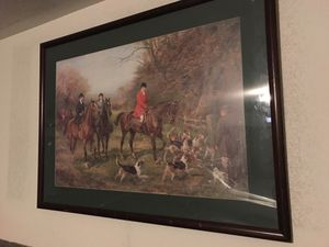 Framed Horse riding picture for Sale in Las Vegas, NV