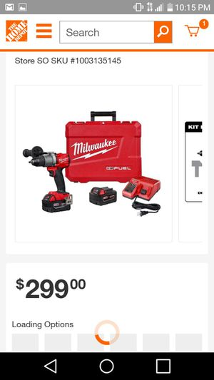 """New Milwaukee Fuel 1/2"""" Hammer drill kit or Fuel 1/4"""" Impact driver kit WILL MOT RESPOND TO LOW BALLERS for Sale in Moriarty, NM"""