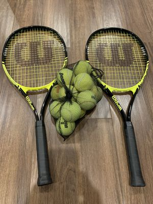 Tennis Racquet Racket and Balls for Sale in Huntington, NY