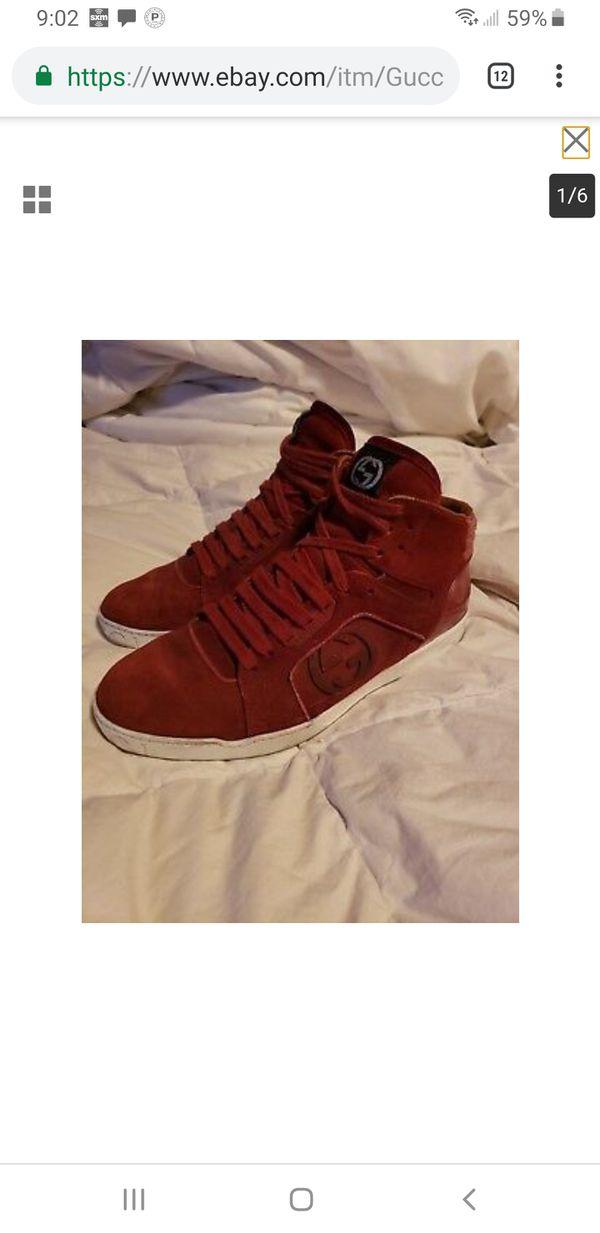 6054170a7b4 Gucci Men Suede Sneaker size 7.5 US 295322 scarlet for Sale in Los ...