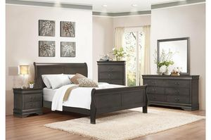 New 4pc queen size bedroom set tax included free delivery for Sale in Hayward, CA