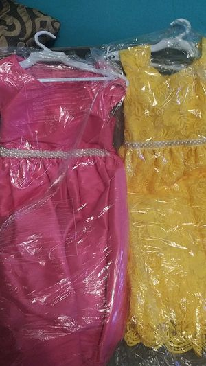Yellow and pink dresses size 12 for Sale in Los Angeles, CA