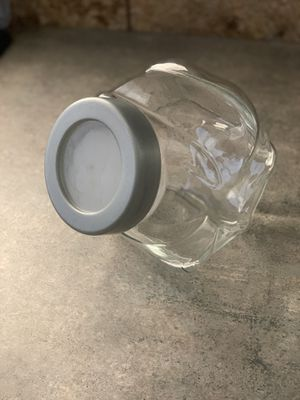 Glass candy jar with lid for Sale in Turlock, CA