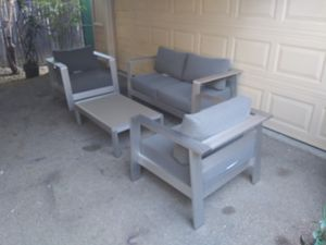 Outdoor patio loveseat with chairs and coffee table for Sale in Los Angeles, CA