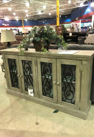 🏷Best OFFER. Mirimyn Antique Gray Grills Accent Cabinet IN STOCK SAME DAY DELIVERY for Sale in Jessup, MD
