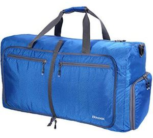 Homdox 80L Large Duffle Bag for Men Women,Waterproof Lightweight Foldable Camping Duffel Bag,Large Gym Bag for Men,Travel Luggage XL Blue for Sale in Moran, KS