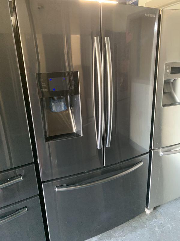 Black stainless frenchdoor refrigerator Samsung