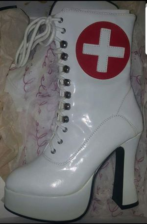 Sexy Medical Nurse Heel Boots Shoes Halloween Costume Female Women's Ladies for Sale in Pinellas Park, FL