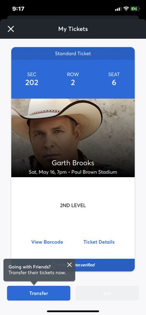 Garth Brooks ticket for Sale in Cincinnati, OH