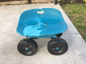 Tractor seat Garden Stool with Wheels for Sale in Hollywood, FL