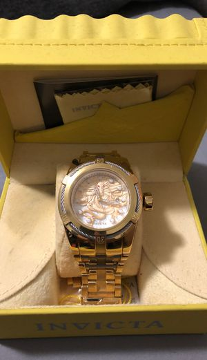 INVICTA BOLT MENS AUTOMATIC 53 MM GOLD, STAINLESS STEEL CASE SILVER, GOLD DIAL - MODEL 28770 for Sale in Kissimmee, FL