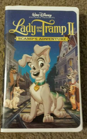 WALT DISNEY LADY AND THE TRAMP II SCAMP'S ADVENTURE VHS. for Sale in Mesa, AZ