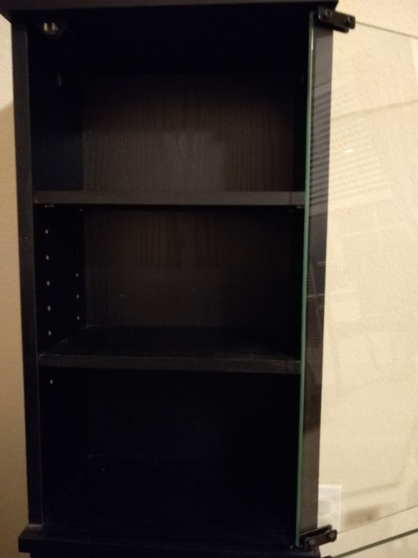 CD / DVD cabinet with glass doors