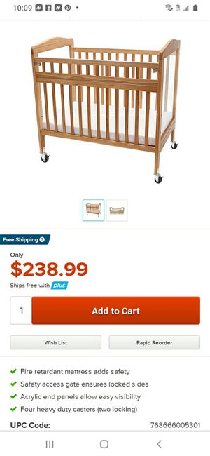 Baby wooden crib for Sale in Columbus, OH