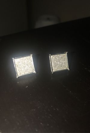 Square Diamond Earrings White Gold (10k) (0.80TCW) for Sale in Redmond, WA