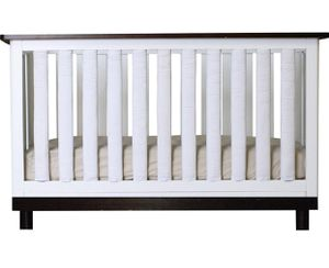 Go mama go Pure Safety Vertical Crib Liners in True White Cotton 24Pack for Sale in Las Vegas, NV