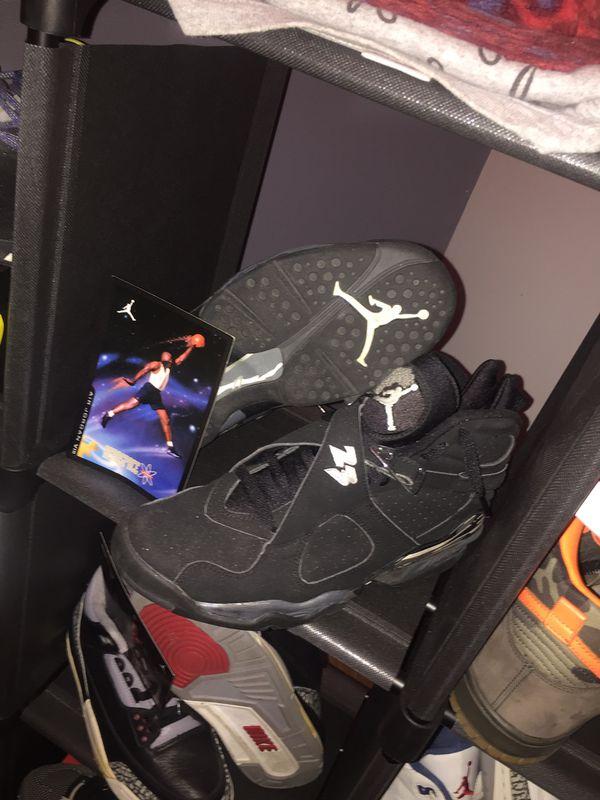 """2003 Nike Air Jordan 8 """"Chrome"""" Size 9"""