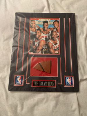Gorgeous dream team magazine custom with ball autographs Michael jordan magic TAKING OFFERS for Sale in Fairfax, VA