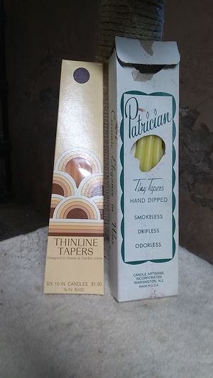 Two boxes of thinline tapers candles for Sale in Freeland, PA